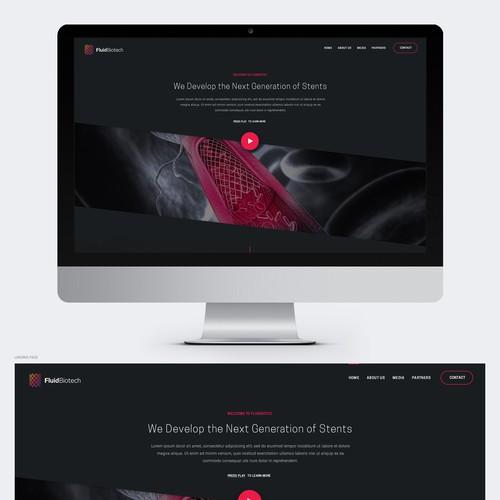 Biomedical Startup Website Design