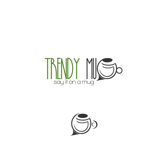 Logo for trendy mug