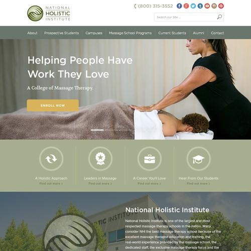 Massage College Website