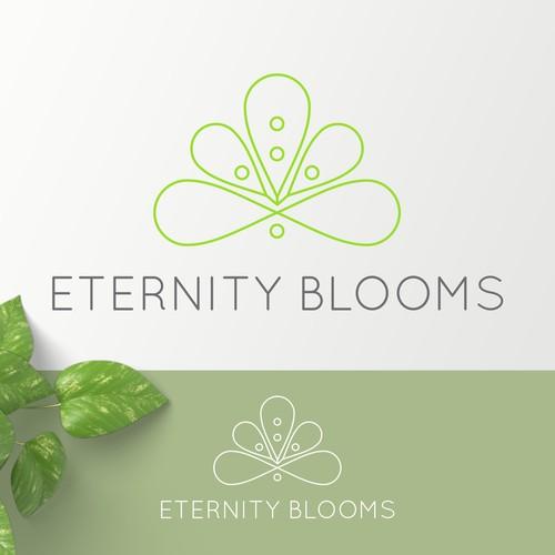 Logo for Eternity Blooms floral startup