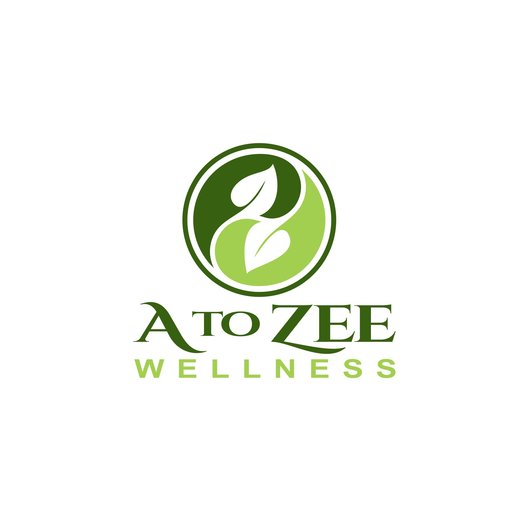 Help Me Grow My Brilliance - organic spring greens logo for health coach / mentor