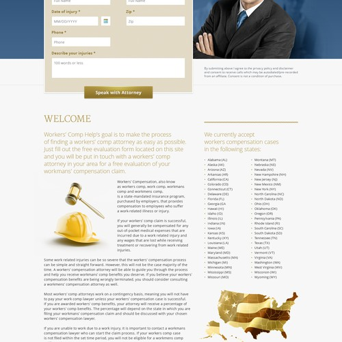 Create an attorney landing page that converts.