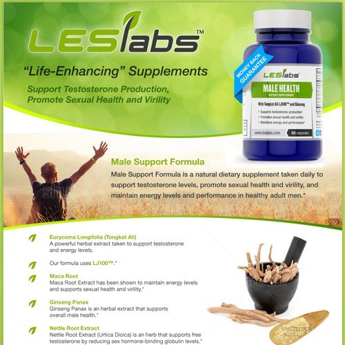 Create a fact sheet template for our nutritional supplements