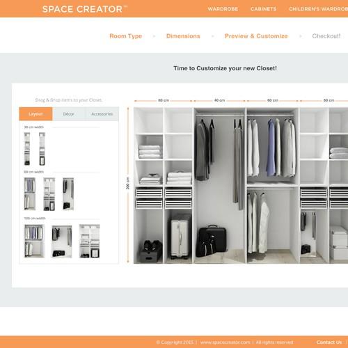 Exclusive Website Design for 'Space Creator'.