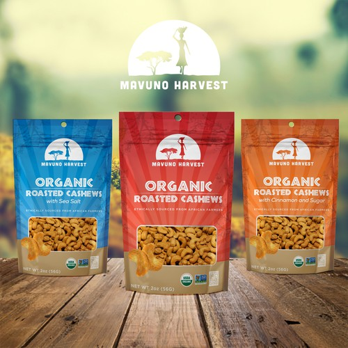 Organic food brand package