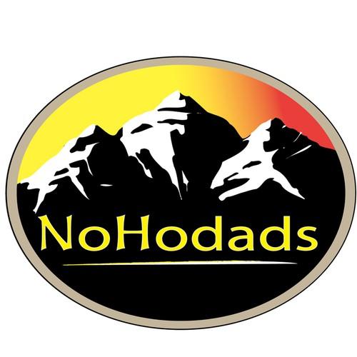 Create a fun logo for No Hodads, mountain climbing site