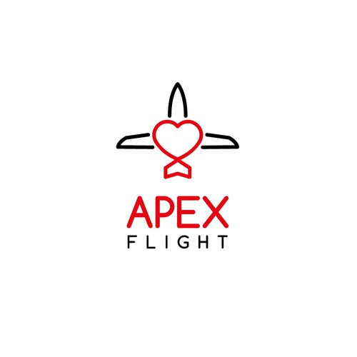 Create a modern yet nostalgic logo for an aviation company
