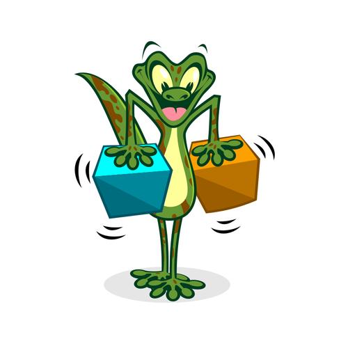Fun gecko character
