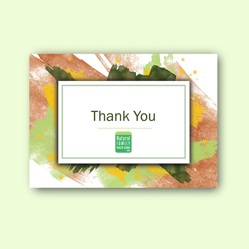 thank you card, Natural Family