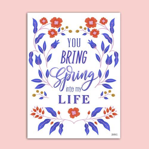 Card Illustration   Poster Design   Letterin Art