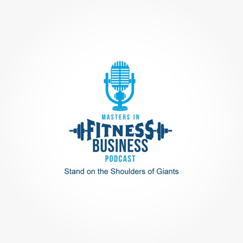 Fitness Podcast logo branding
