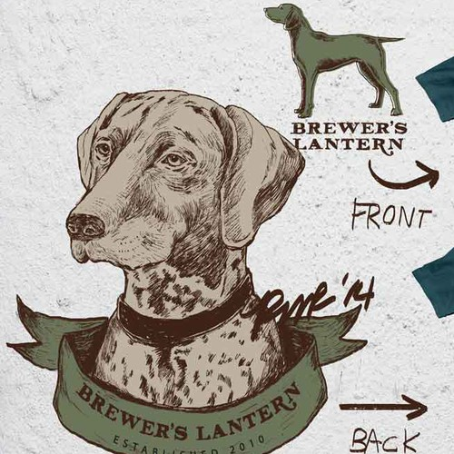 Create TShirt with Dog on Back Design for Popular Southern Brand