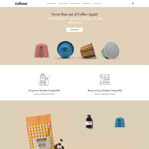 Square Online Store for Coffee Pod Company