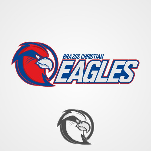 Design an orignal EAGLE mascot for Brazos Christian School