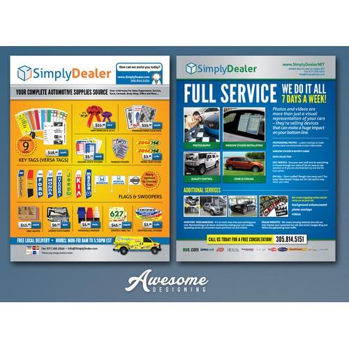 create an AWARD winning flyer for automotive industry!!!