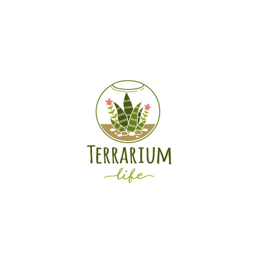 Logo concept for terrarium blog