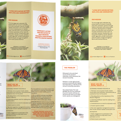 Brochure for butterflies
