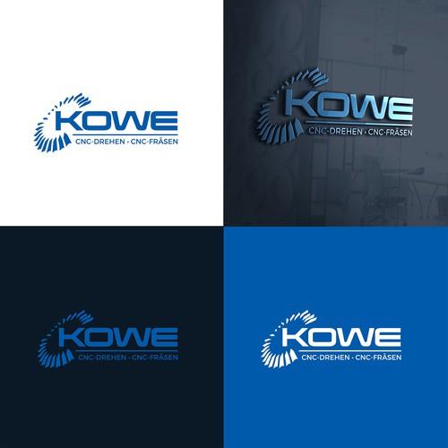 Modern logo for KOWE CNC
