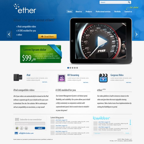New website design wanted for Ether