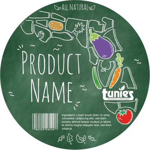 Label for all natural food