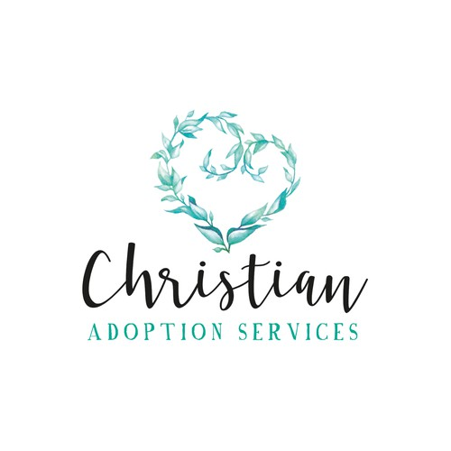 Soft watercolor logo for Christiant Adoption Services