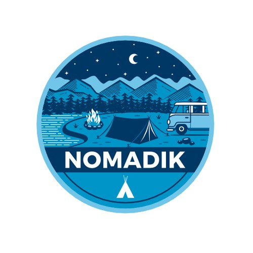 Camping Outdoor Sticker