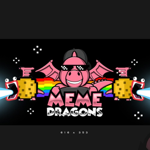 Graphic illustration design for MeMe Dragons VR game