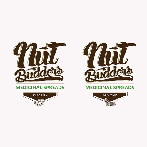 Create a Logo for a infused Nut Butters company (Peanut and Almond Butter)