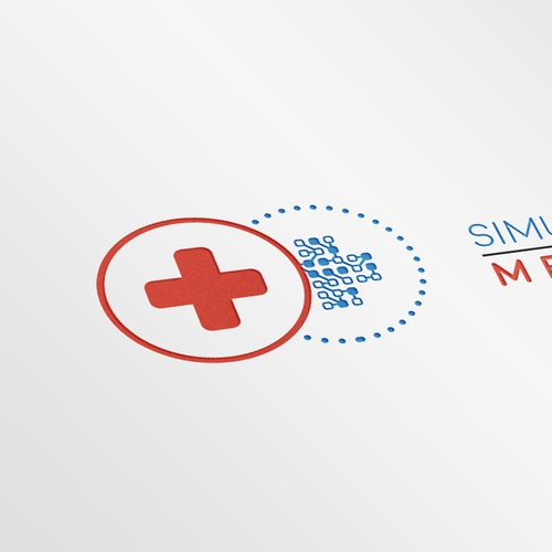 A logomark for a technological medical brand.