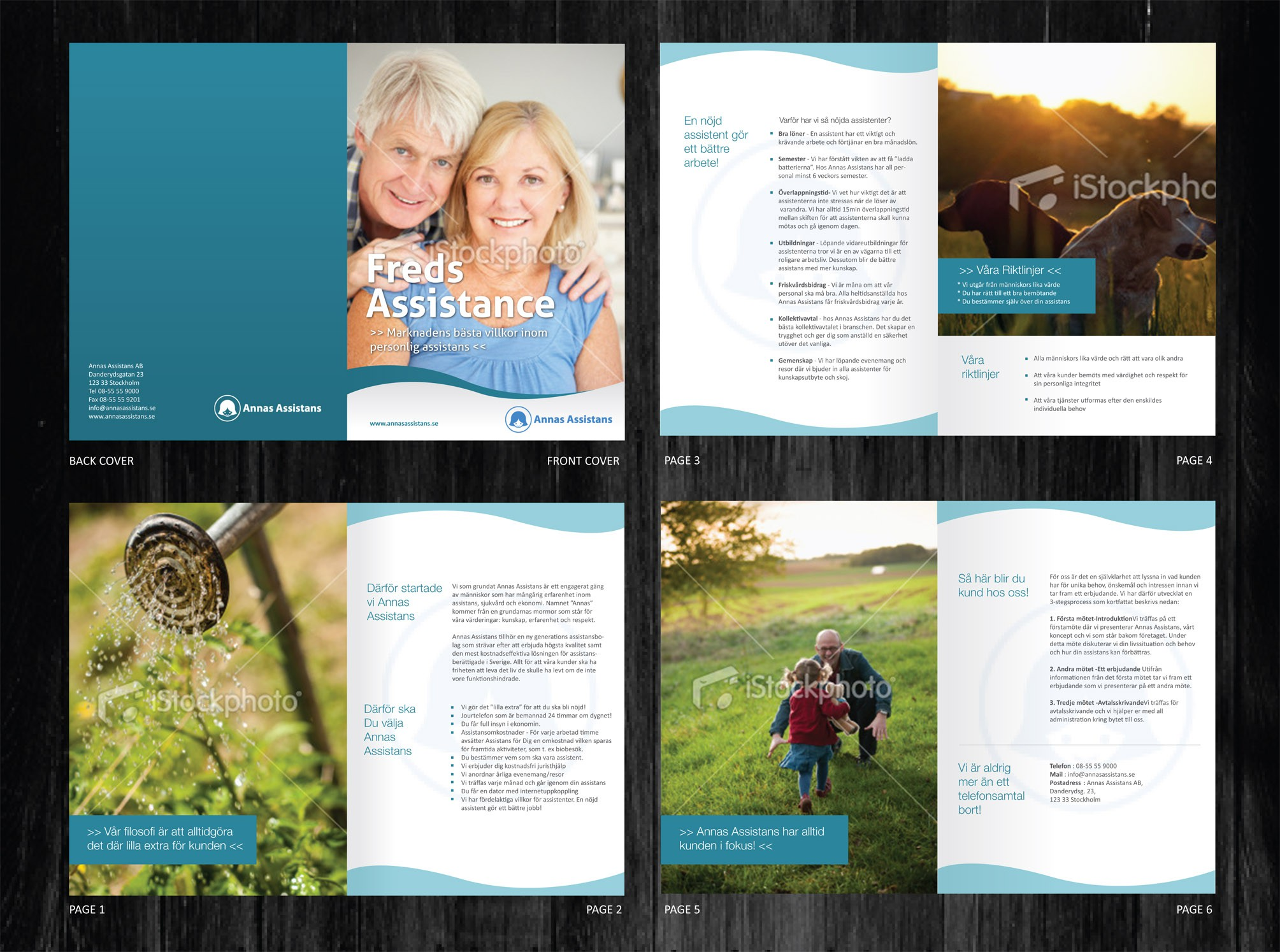Help Freds Assistance with a new brochure design