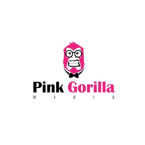 Modern logo design for Pink gorilla Media