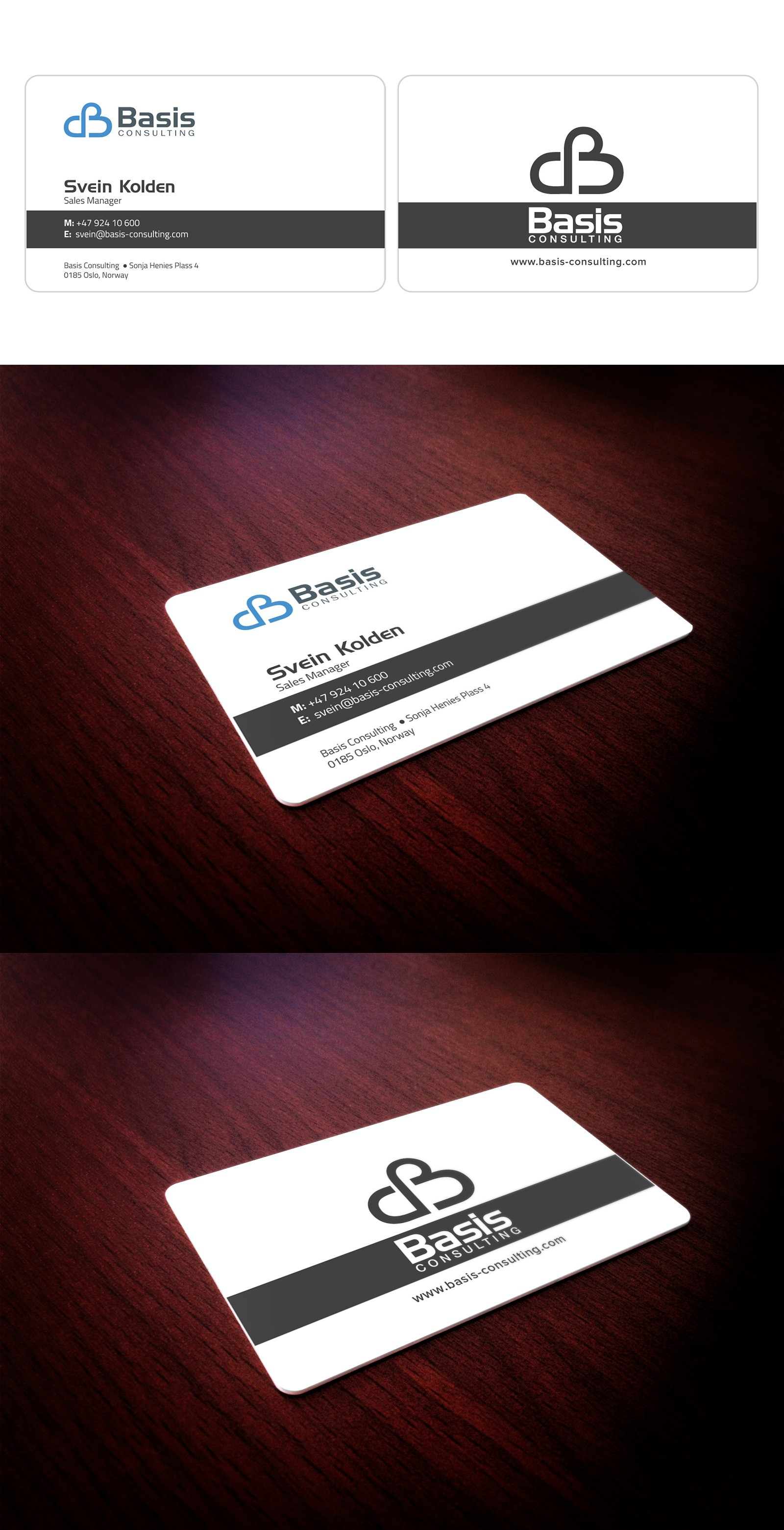 Creative business card for Basis Consulting