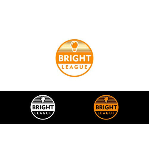 Create a luminous logo for Bright League, a new staffing platform.