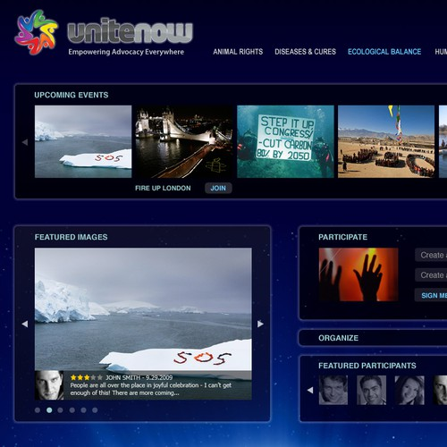 Unite Now website design
