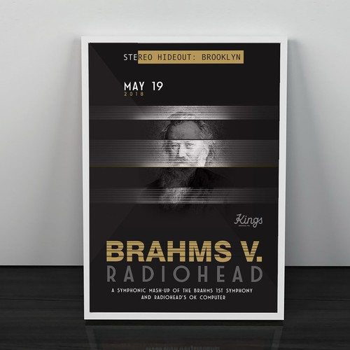 BRAHMS V. RADIOHEAD Concert Poster
