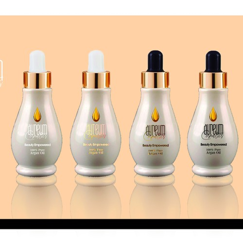 Luxury face and body oil design for new cosmetic line