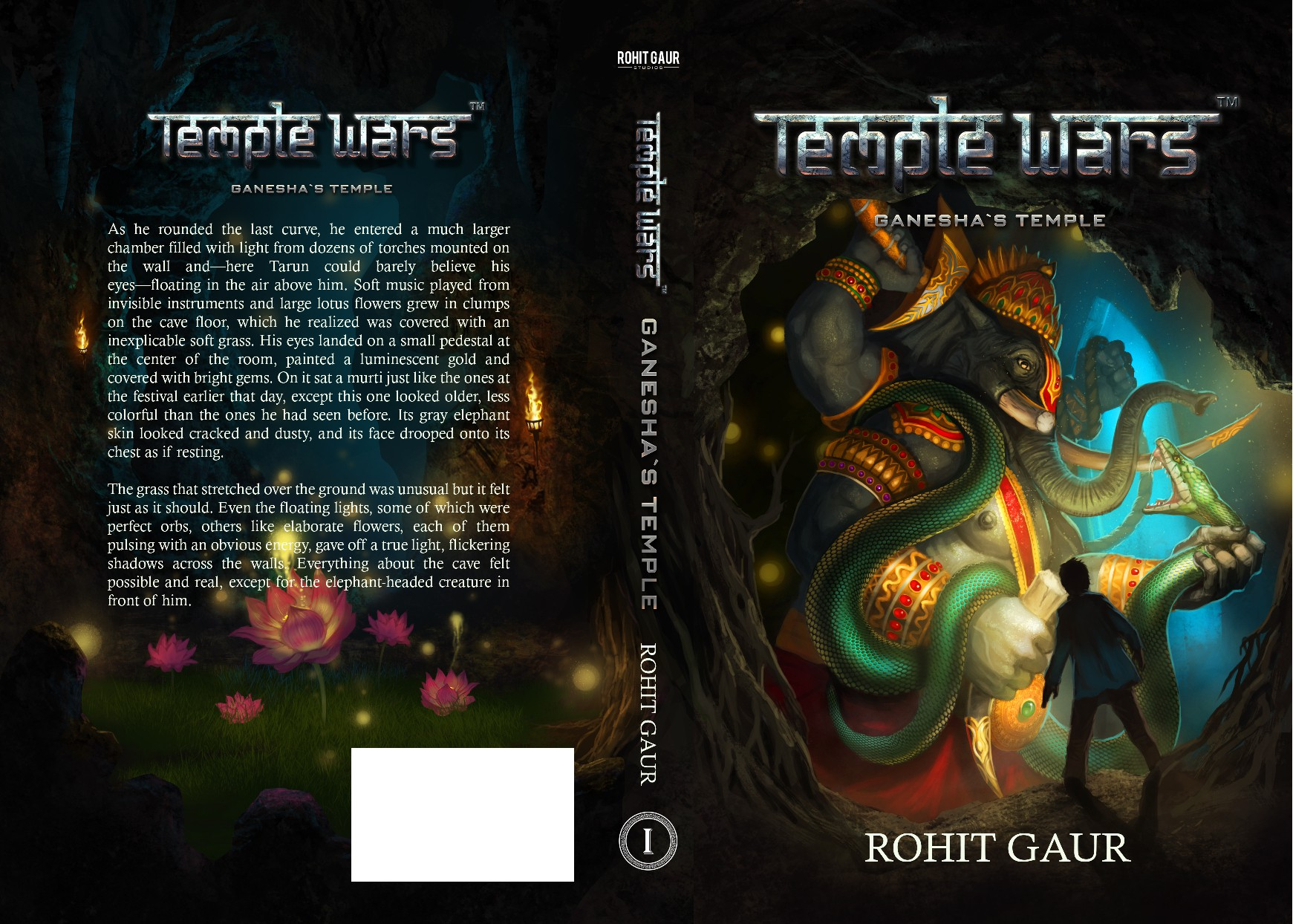 Create a Fantasy Book Cover for the Temple Wars !!
