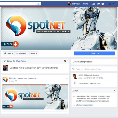 Facebook Cover Image Contest for Gaming Company