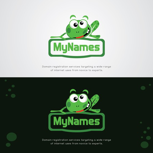 Unique, powerful logo for our Domain Registration Services