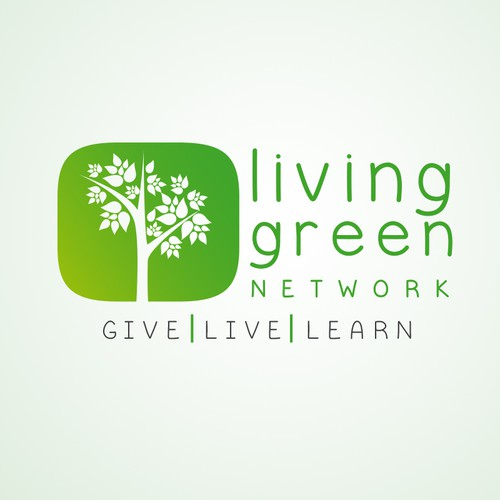 Create a design that captures the mission, vision, and culture of the Living GREEN Network