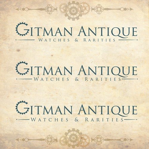 Gear logo for Antique Watch Website