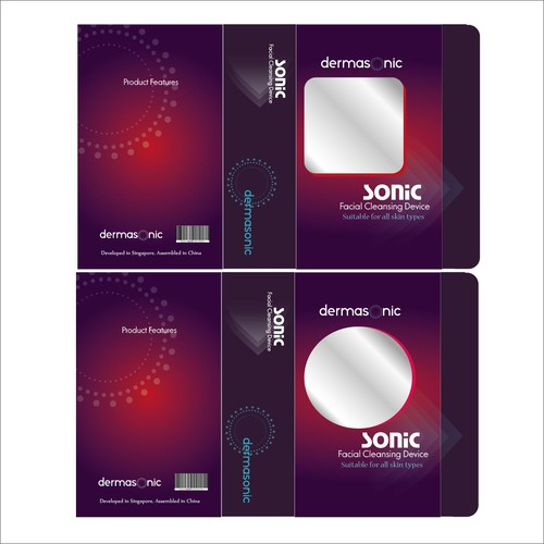 Package concept for Sonic facial cleansing device