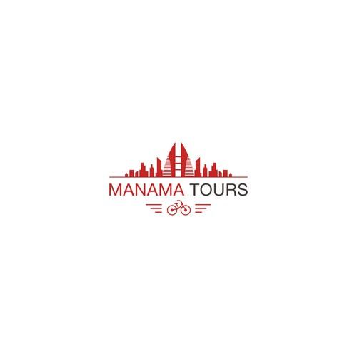 Manama tours logo design