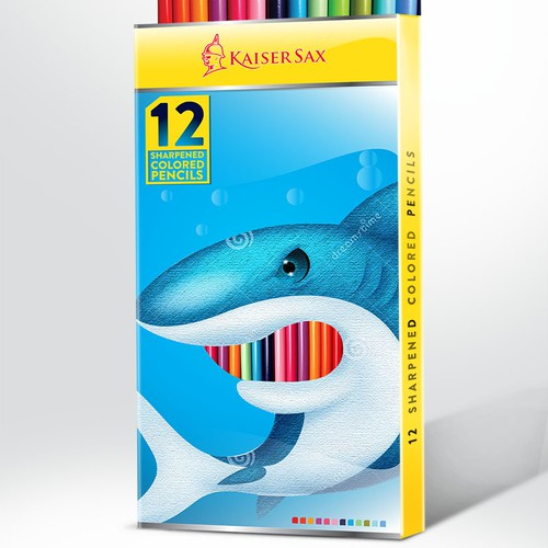 Kaiser Sax - Packaging for 12 coloring Pencils