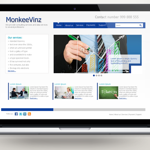 MonkeeVinz needs a new website design