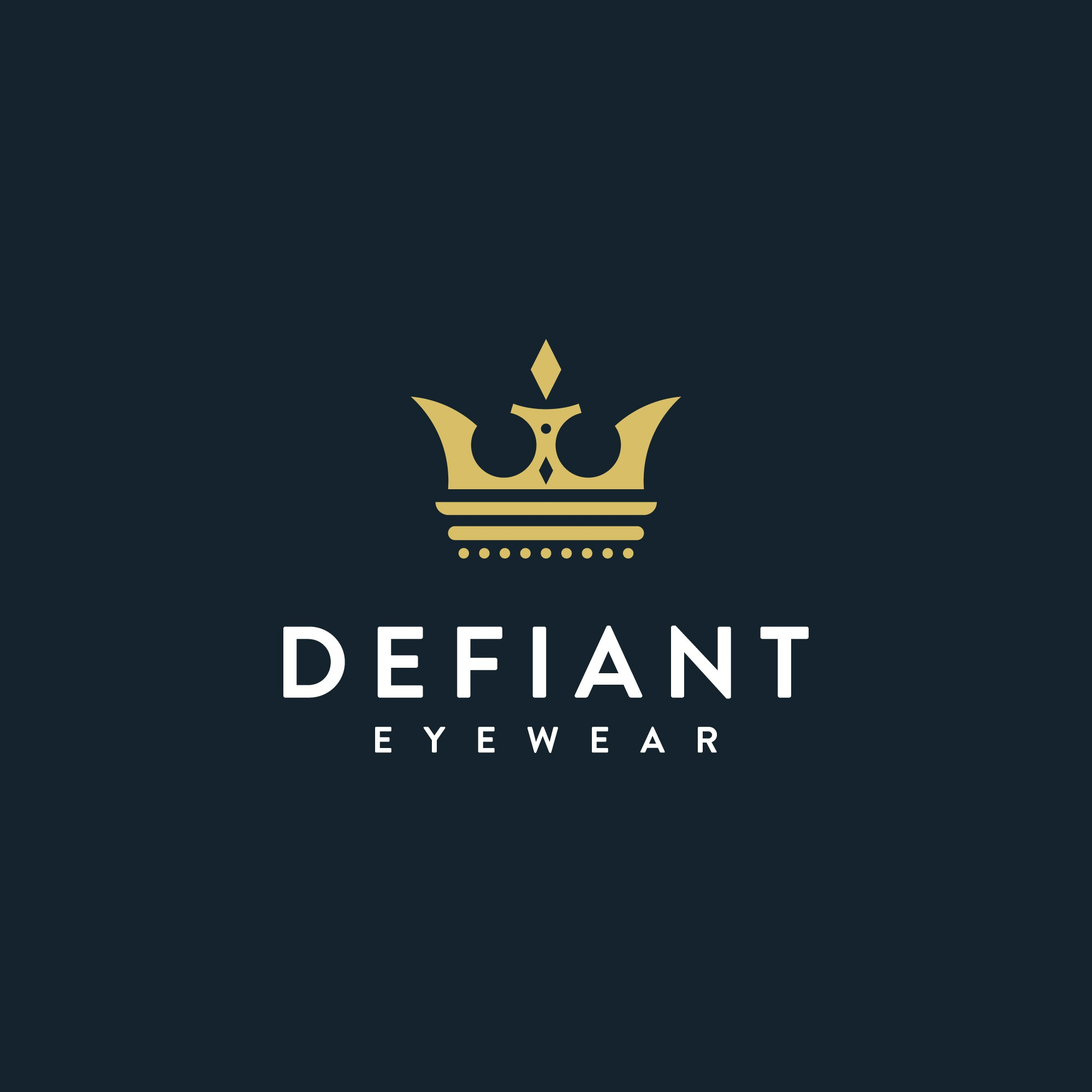 Be Defiant ! Defiant Eyewear is looking for a powerful logo with a bold statement