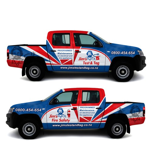 Bold wrap for dual cab truck