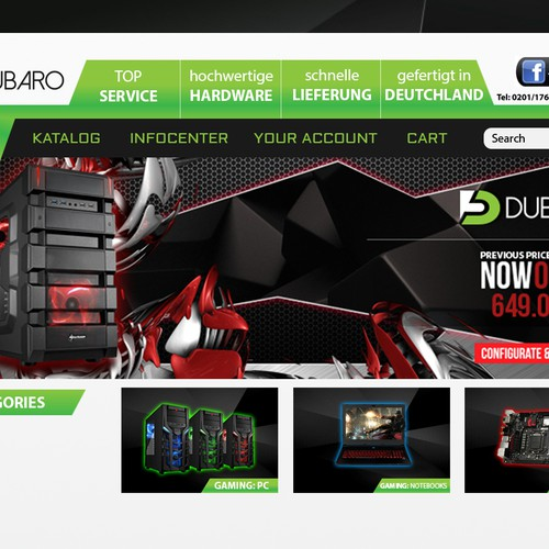computer shop web design