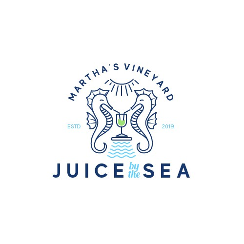 Classic logo for a juice bar by the beach