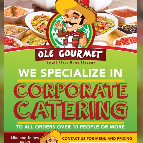 Poster for mexican caterer